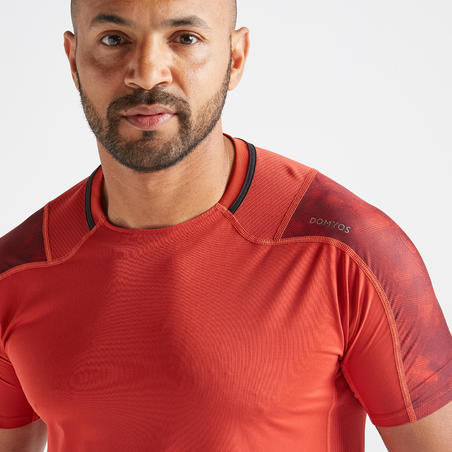 FTS 500 Fitness Cardio Training T-Shirt – Red
