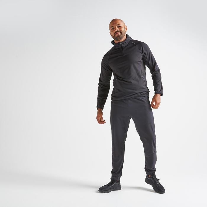 Fitness broek FPA 500 voor heren, zwart