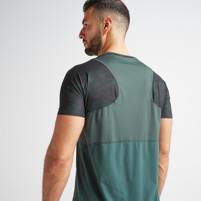 Tee shirt cardio fitness training homme FTS 500 khaki vert