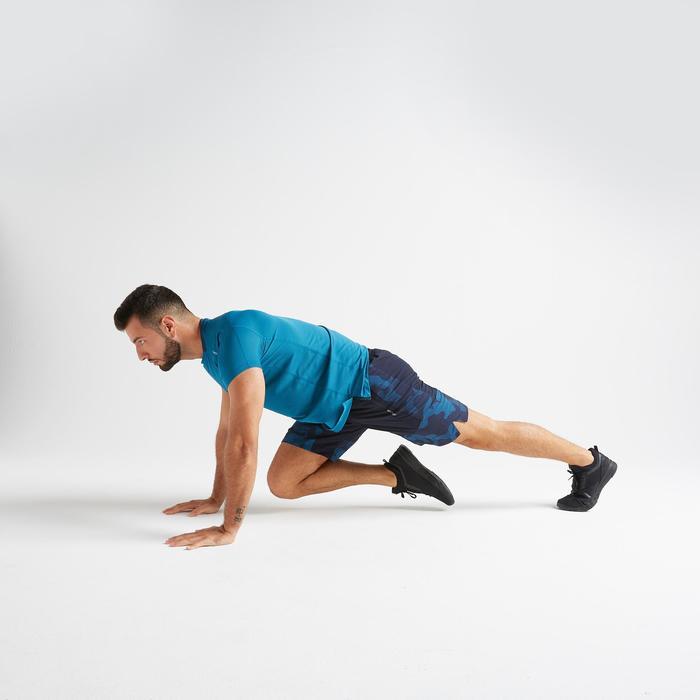 Short voor cardiofitness training heren FST 500 blauw AOP