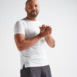 Camiseta cardio fitness training FTS520 hombre blanco