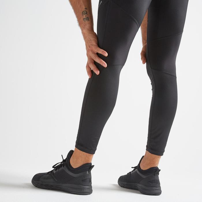 有氧健身訓練緊身褲500 FLEG-黑色