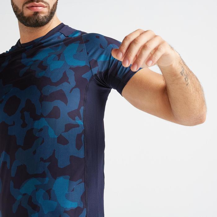 T-Shirt Fitness Cardio FTS 500 Herren Camo blau