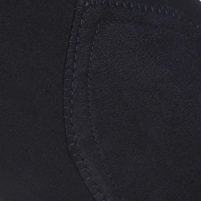 Damesrijbroek ruitersport BR500 met knie-inzetten marineblauw
