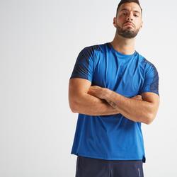Camiseta manga corta Fitness Cardio Domyos FTS 500 hombre azul