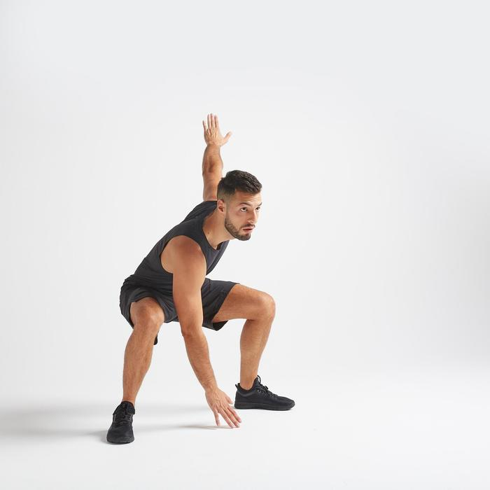 Débardeur fitness cardio training homme noir 500