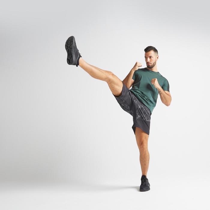 有氧健身訓練短褲FST 500-黑色/灰色
