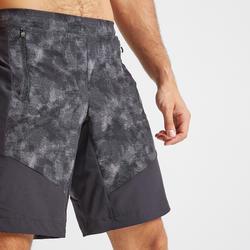 Pantalón corto chándal Cardio Fitness Domyos FST 500 hombre gris negro