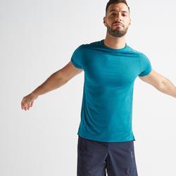 T-shirt cardio fitness training FTS520 homme bleu F18A