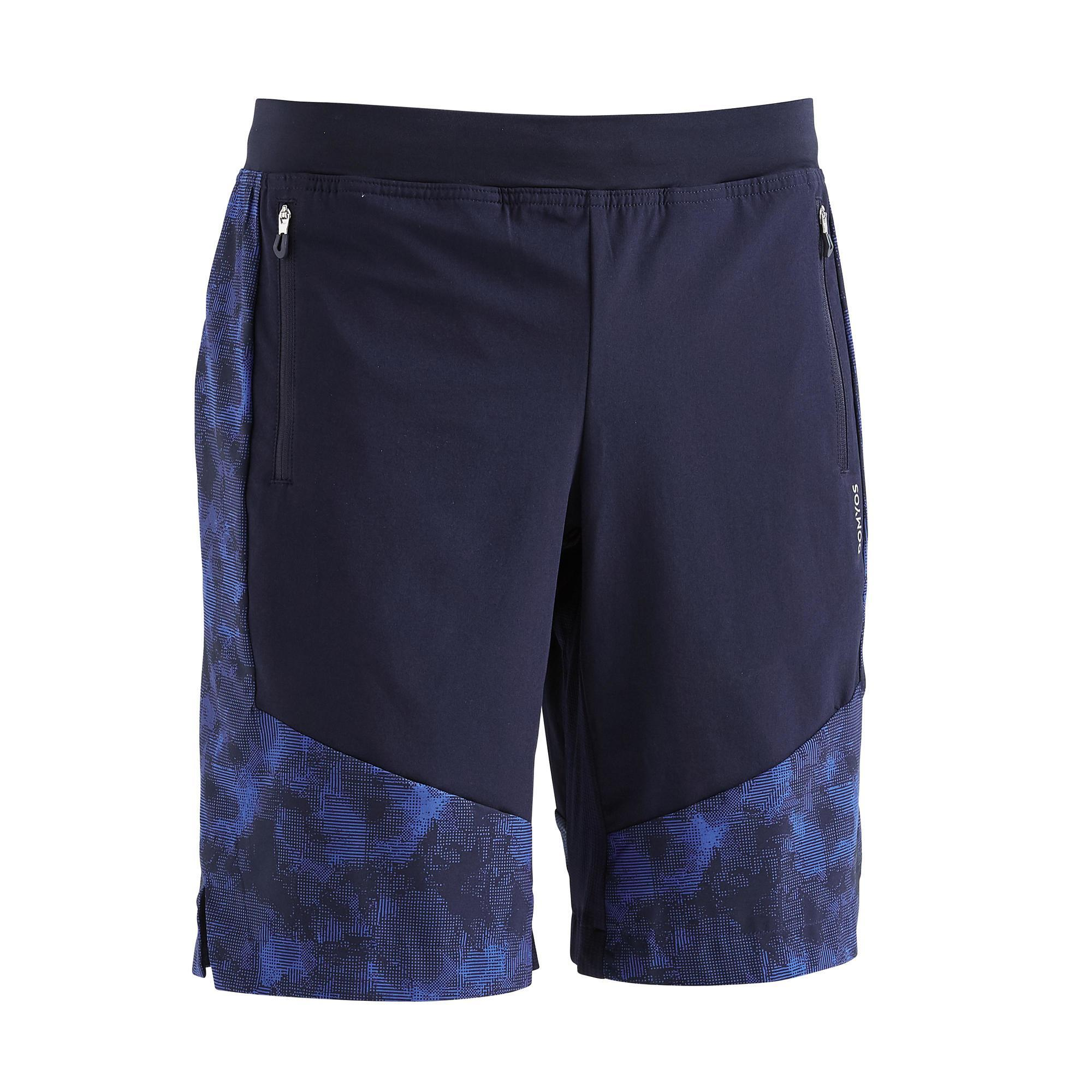 Shorts 2-in-1 Fitness Cardio Herren marineblau