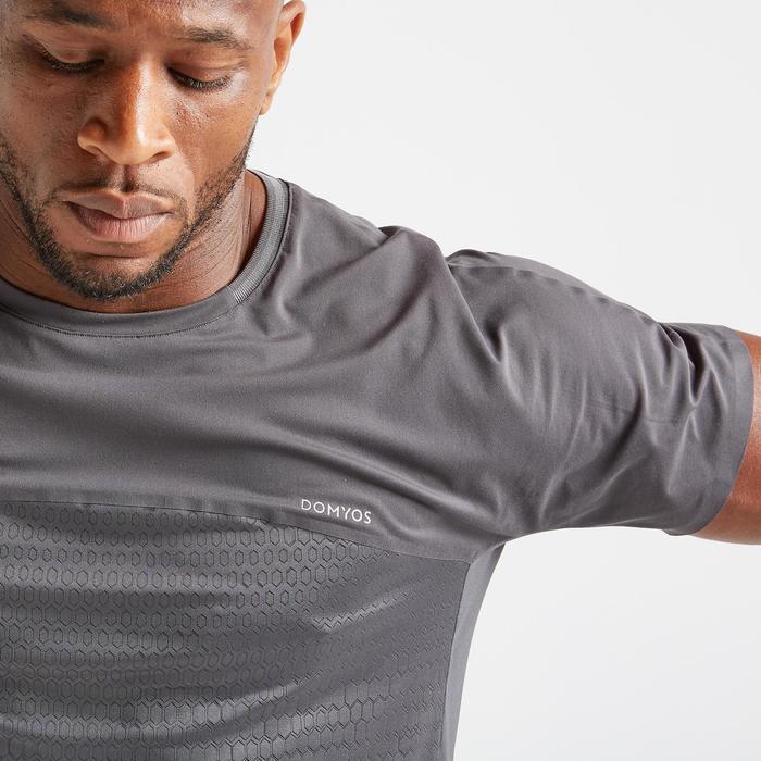 T-shirt voor cardiofitness heren FTS 920 grijs