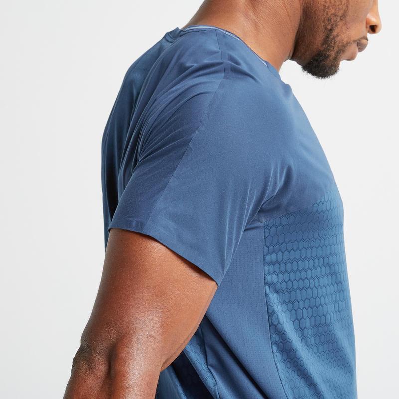Men's Ultra-Light Odour Control Cardio Gym T-shirt - Blue