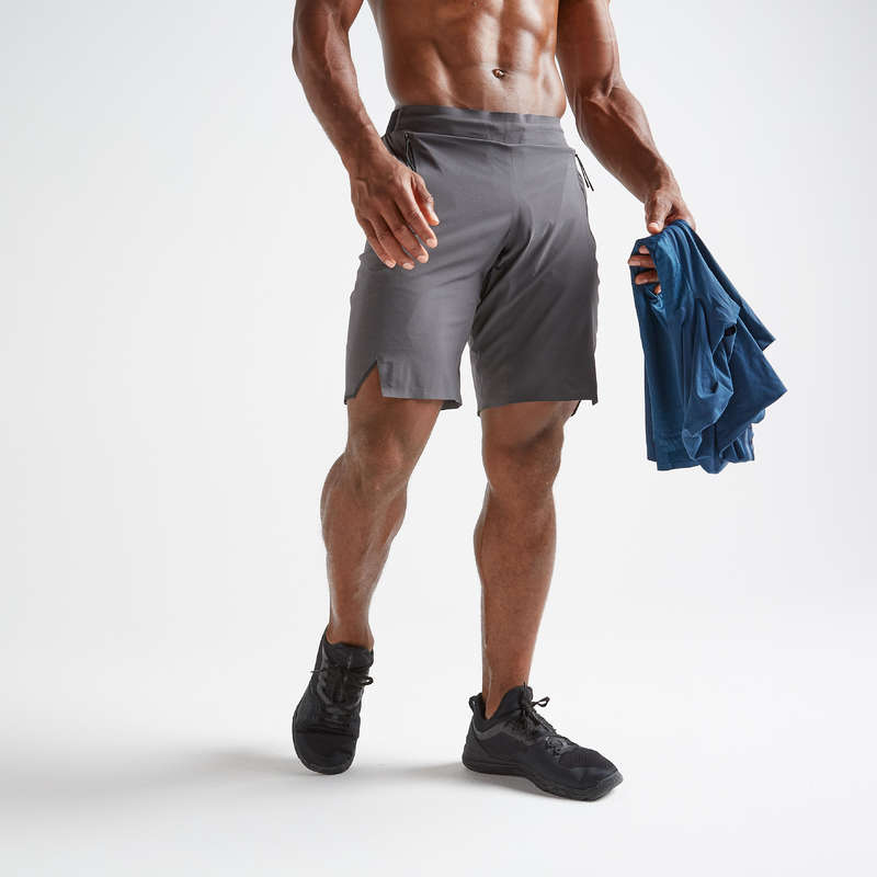 ABBIGLIAMENTO UOMO CARDIO FITNESS Fitness - Pantaloncini uomo cardio 900 DOMYOS - Abbigliamento palestra