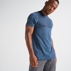Camiseta manga corta Cardio Fitness FTS 900 hombre azul verdoso