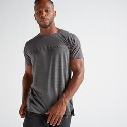 T-shirt voor cardiofitness heren 920 grijs