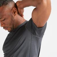 T-shirt entraînement cardio homme FTS 900 gris foncé