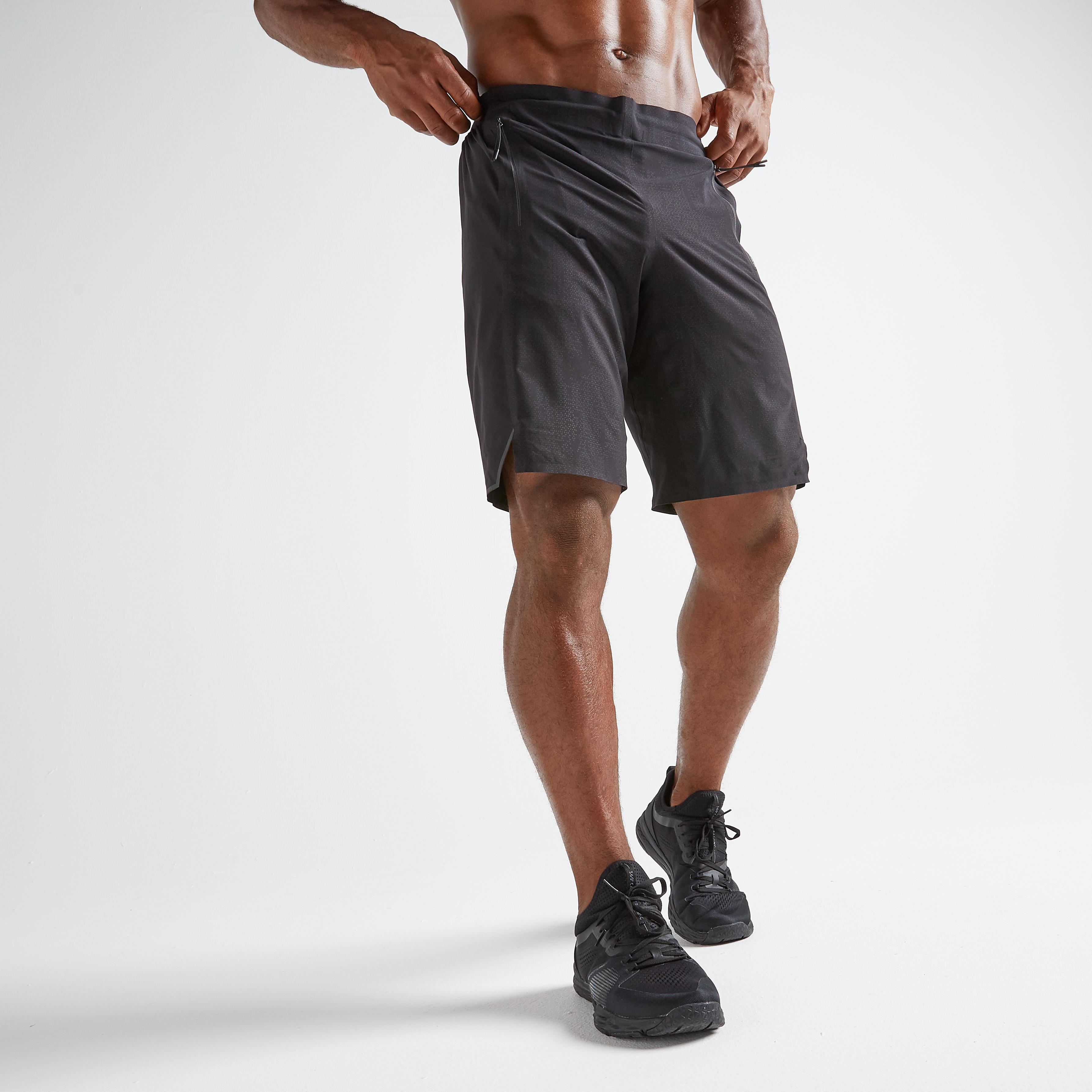 Șort Fitness 900 Negru