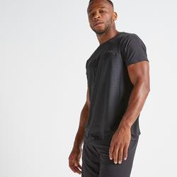 Camiseta manga corta Cardio Fitness Domyos FTS 920 hombre negro