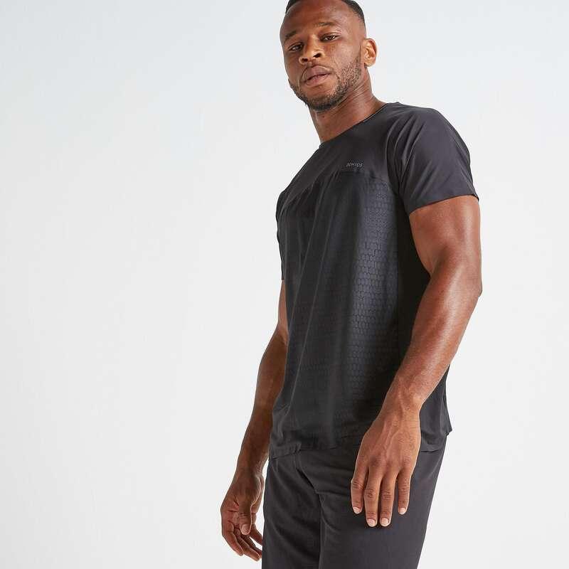 FITNESS CARDIO PANOPLIE EXPERT HOMME Fitness - T-shirt uomo cardio 920 nera DOMYOS - Abbigliamento palestra