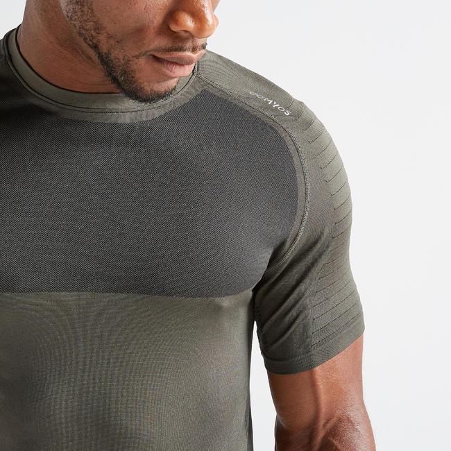 Men's Advance Ultra Light Fitness T-Shirt - Khaki