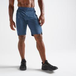 Pantalón Corto Chándal Cardio Fitness Domyos FST 900 hombre azul verdoso