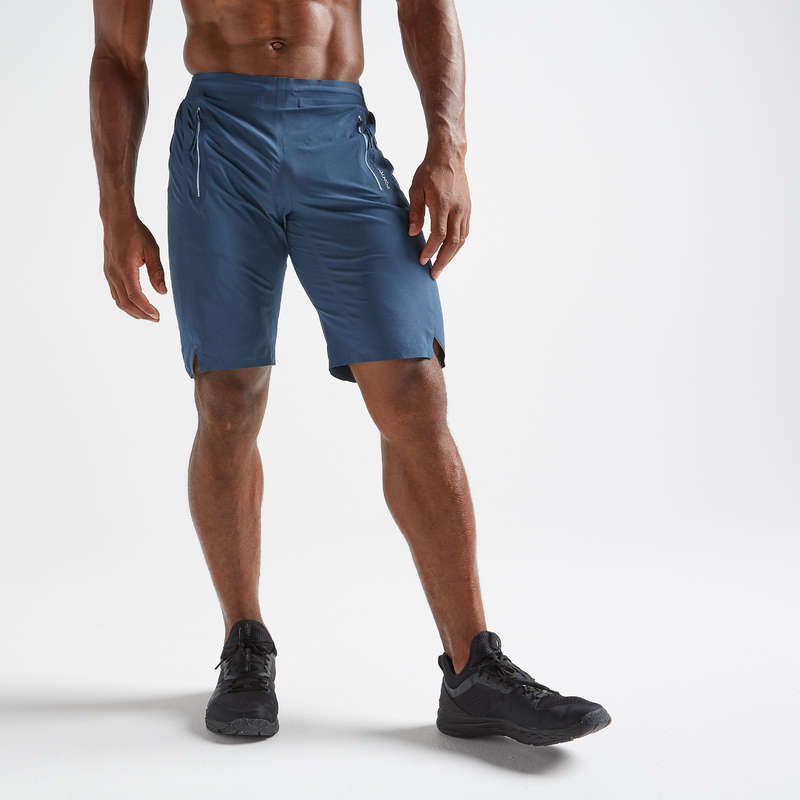 MAN FITNESS APPAREL Clothing - FST900 Shorts - Blue DOMYOS - Bottoms