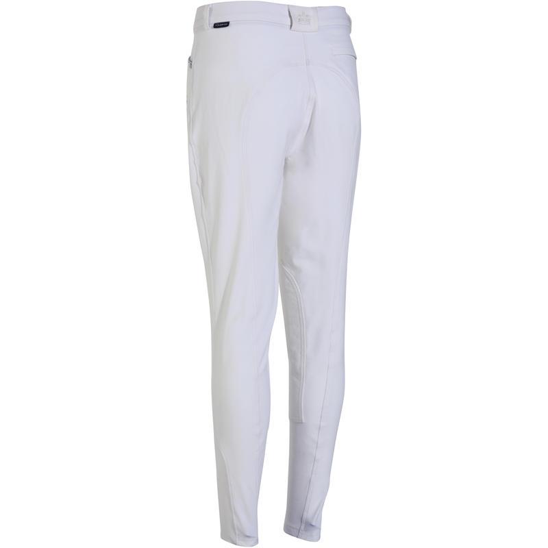 Pantalón Concurso equitación mujer BR500 blanco