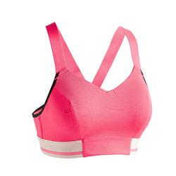 Sport-Bustier FBRA 500 Fitness Cardio Damen rosa