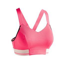 Sportbeha voor cardiofitness 500 roze