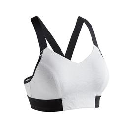 Brassière fitness cardio training femme blanche 500