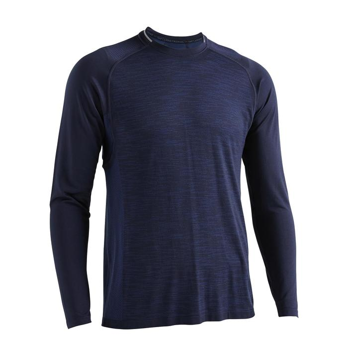 FTS 500 Fitness Cardio Training Long-Sleeved T-Shirt - Mottled Blue