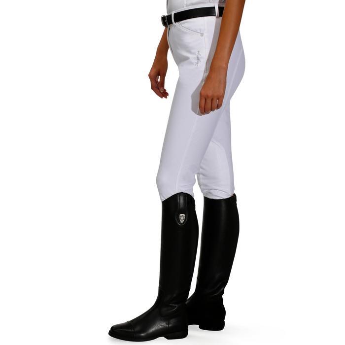 Pantalón Concurso equitación mujer BR500 blanco Fouganza  b52aa3c2e401