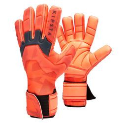Keeperhandschoenen voor voetbal volwassenen F900 cold negatieve naad rood