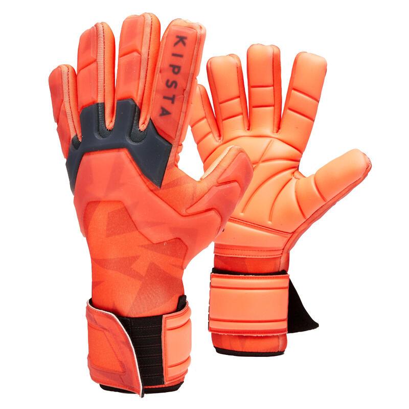 Fotbalové brankářské rukavice s obrácenými švy F900 Cold červené