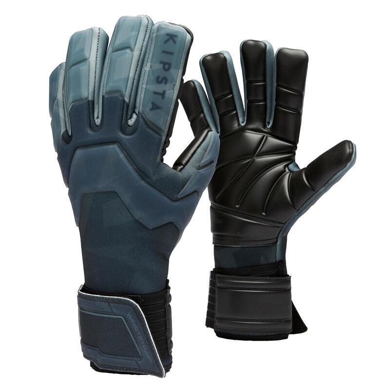 Fotbalové brankářské rukavice s obrácenými švy F900 Cold černé