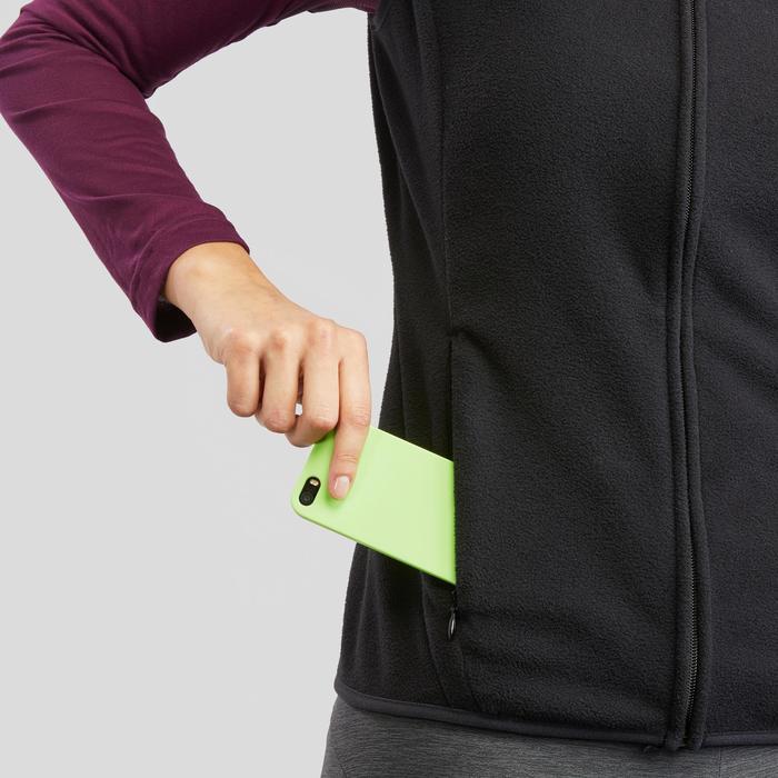 女款登山健行刷毛背心MH120-黑色