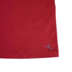 標準剪裁皮拉提斯與溫和健身T恤500 - 酒紅色