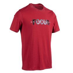500 Regular-Fit Pilates & Gentle Gym T-Shirt - Burgundy