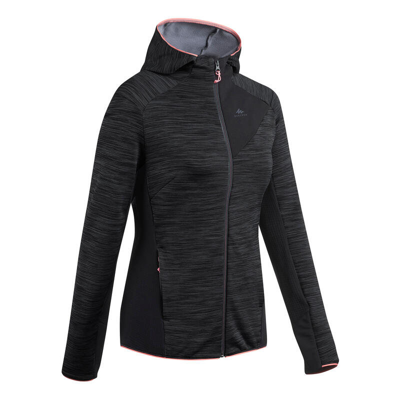 Women's Mountain Hiking Fleece Jacket MH900 - Mottled Grey