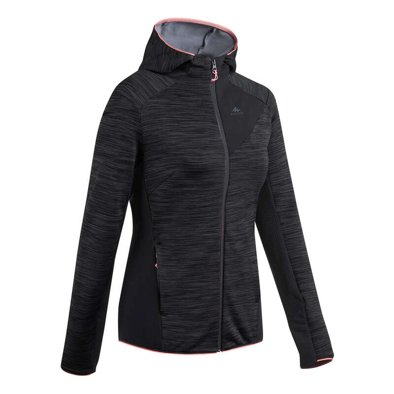 PILE MONTAGNA DONNA Sport di Montagna - Pile donna MH 900 grigio chiné QUECHUA - Trekking donna