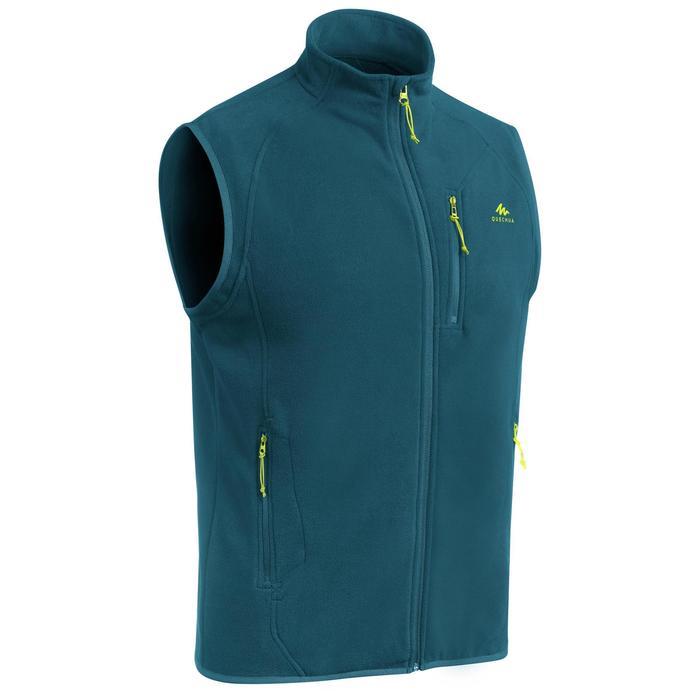 Fleece bodywarmer voor bergwandelen heren MH120 turquoise