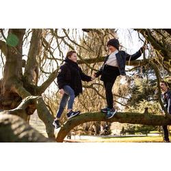 Kindersneakers voor wandelen Protect 560 leer marineblauw / wit