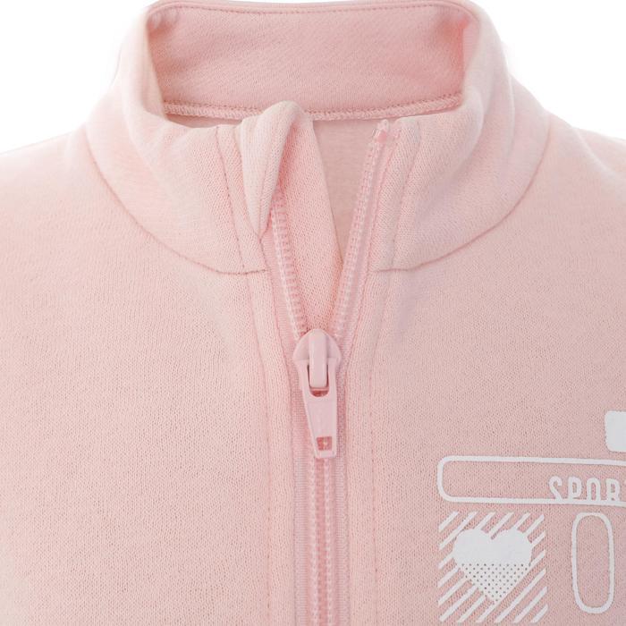 嬰幼兒體能活動拉鍊運動服100 Warmy - 粉色