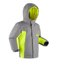 Skijacke Piste 500 Kinder grau gelb