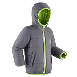 Ski-jas voor kinderen Warm Reverse 100 grijs/geel
