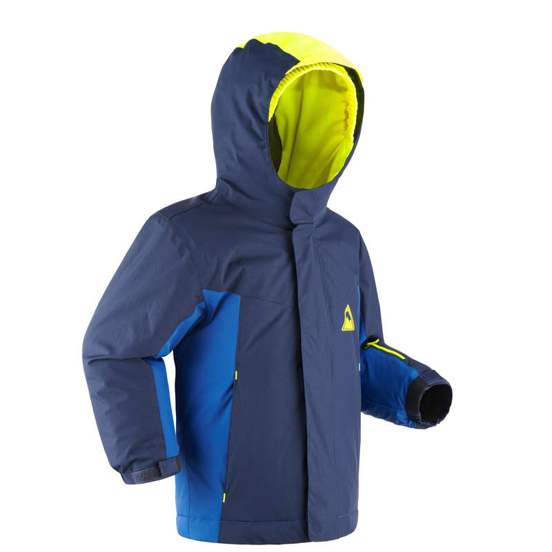 KID INTERMEDIATE ON PISTE SKIING CLOTHS Clothing - KIDS' D-SKI JKT PNF 500 - NAVY WEDZE - Coats and Jackets
