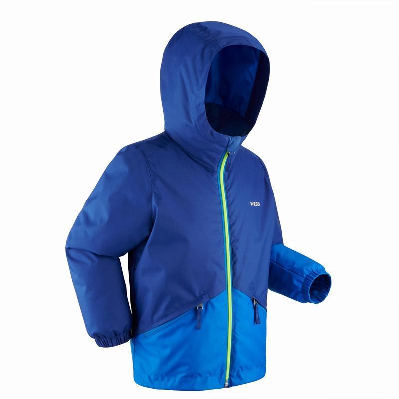 Warme en waterdichte ski-jas voor kinderen 100 blauw