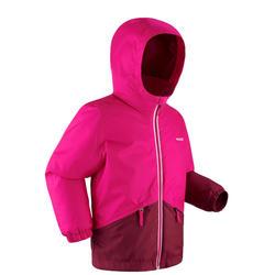 Skijacke 100 warm wasserdicht Kinder rosa