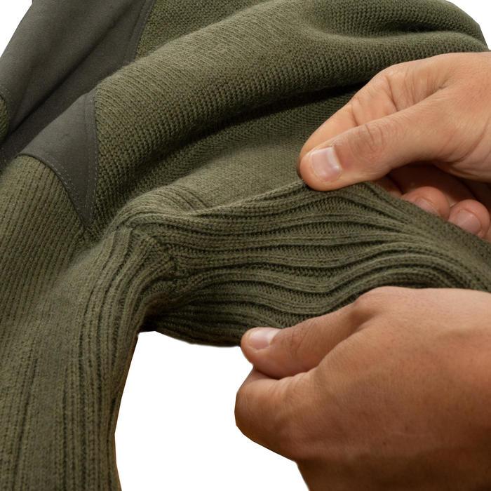 Jagdpullover 900 Wolle Winddicht