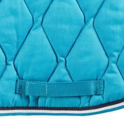 Tapis de selle équitation cheval et poney 500 bleu turquoise